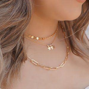Jewelry - Dainty Triple Star Charm Necklace